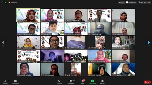 USU Medan Rintis Seminar Internasional Bahasa Terancam Punah di Indonesia: Sukses Gelar IVSoELL 2020