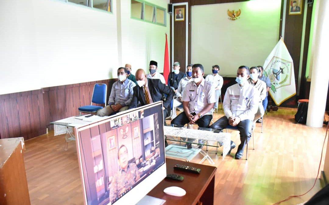 Via Aplikasi ZOOM Meeting: Plt Bupati Bener Meriah Audiensi dengan Mensesneg RI terkait Pembangunan BIC