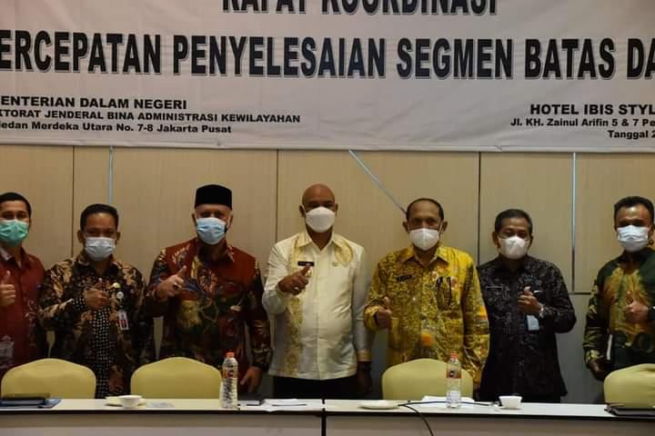 Plt Bupati Bener Meriah ikuti Rakor Penyelesaian Batas Daerah di Kemendagri
