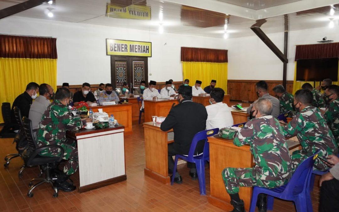 Polres Bener Meriah Gelar Rapat Koordinasi Pembentukan Posko PPKM Menyambut Hari Raya Idul Adha