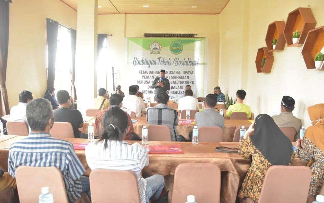 DPMPTSP Bener Meriah Sosialisasikan Teknis Kemudahan Berusaha