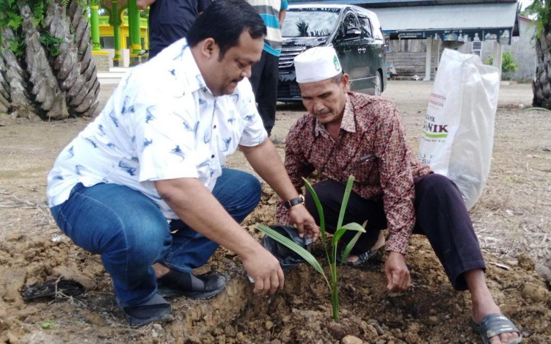 Masjid Aceh Tamiang Terima Wakaf Pohon Kurma