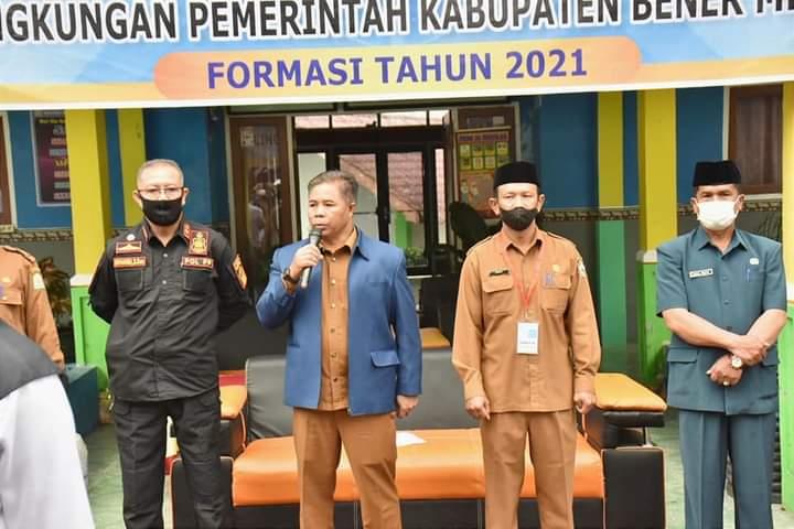 Satpol PP dan WH Kabupaten Bener Meriah Diterjunkan dalam Pengamanan Tes CASN