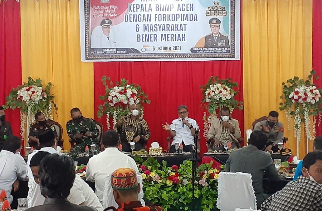 Kepala BNNP Aceh: Kasus Narkoba Rendah di Bener Meriah